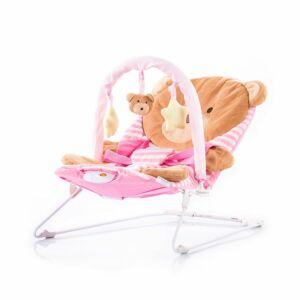 Chipolino Friends rezgő - zenélő pihenőszék - rózsaszín maci