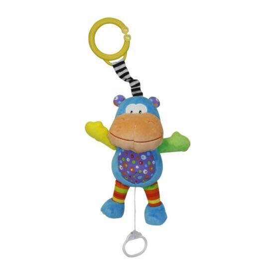 Lorelli plüss felhúzható zenélő játék - Hippo
