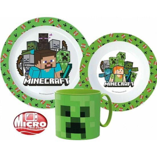 Minecraft 3 részes mikrózható műanyag  szett