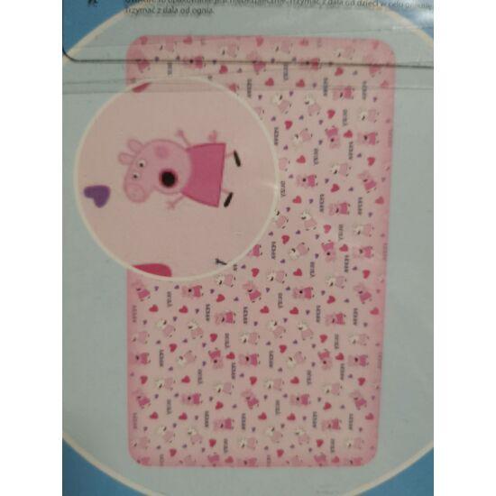 Peppa gumis lepedő 90x200 - Halvány rózsaszín