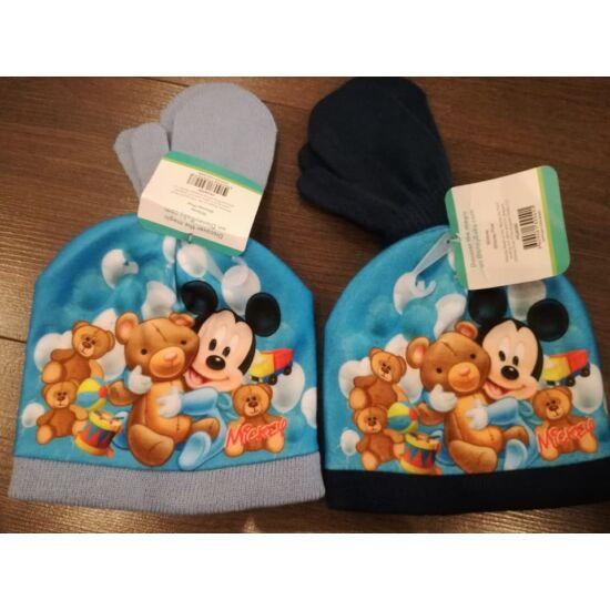 Mickey bébi sapka kesztyűvel