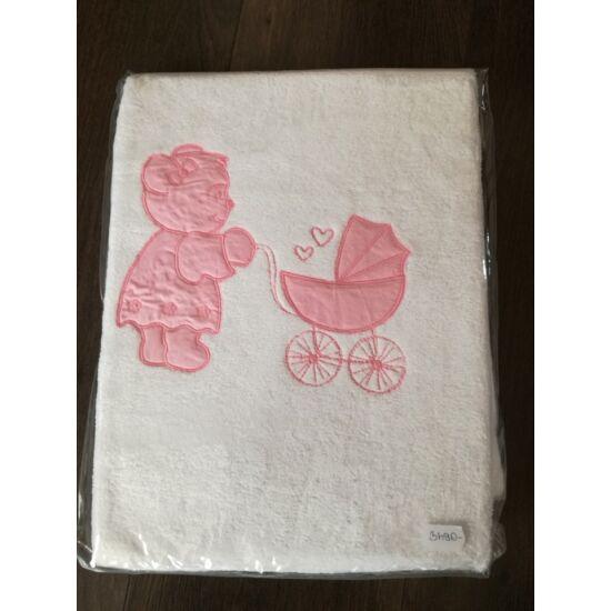 Wellsoft bébi takaró - Rózsaszín maci