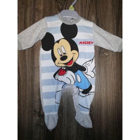 Mickey csíkos rugdalózó
