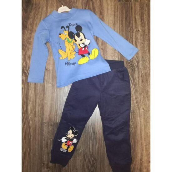Mickey garbós felső + bélelt kord nadrág