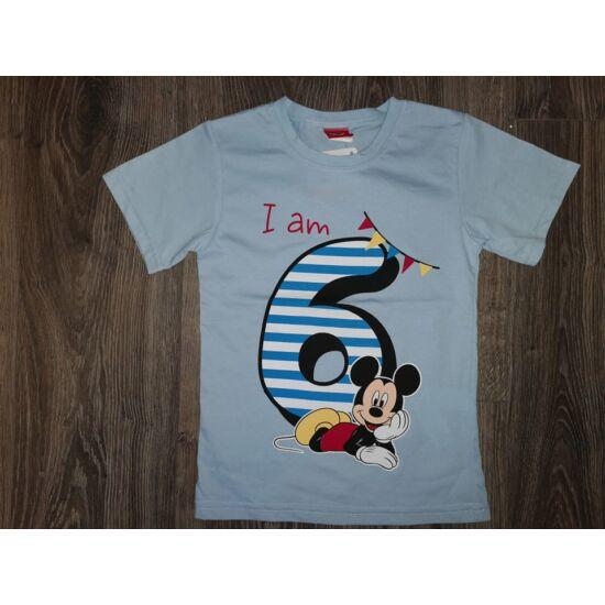 Szülinapos póló Mickey - 6 éves