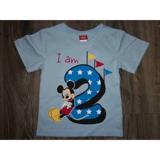 Szülinapos póló Mickey - 2 éves