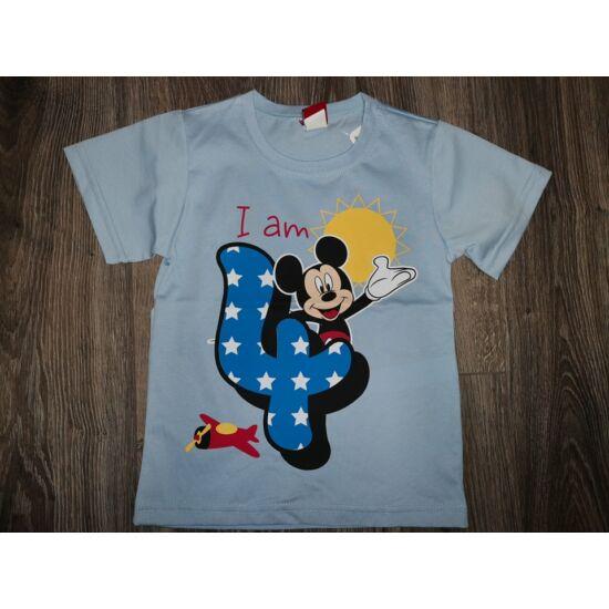 Szülinapos póló Mickey - 4 éves