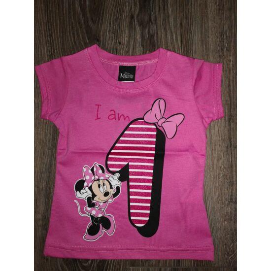 1-es szülinapos póló - Pink (86os )