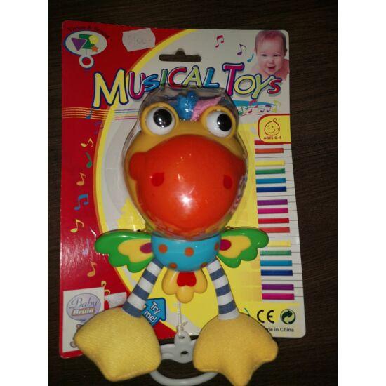 Felhúzható, zenélő papagáj ami mozgatja a kezét-lábát-szemét